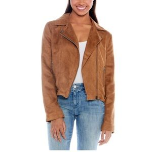 BB Dakota faux Carmel colored suede jacket